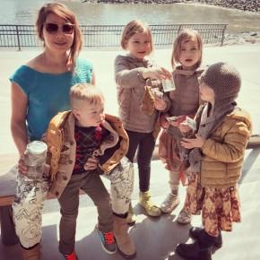 The wife and kids at Brooklyn Bridge Park. #4kidsinbrooklyn